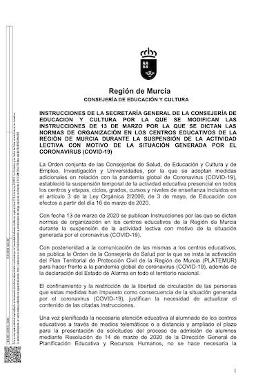 Resolución Secretaría Genera 15 03 20